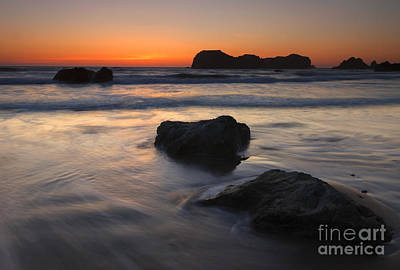 Face Rock Sunset Poster by Mike Dawson