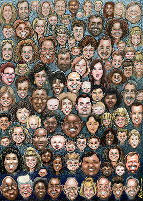 Faces Of Humanity Poster by Kevin Middleton