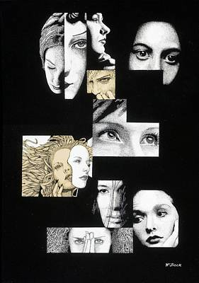 Faces Poster by Wendell Fiock