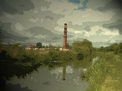 Factory Chimney By The Erewash Canal, Another Piece Poster by Litz Collection