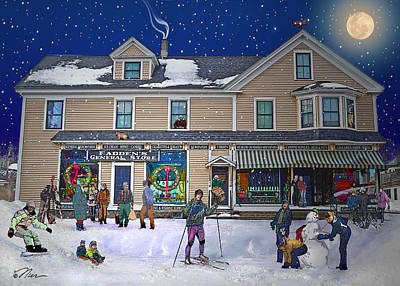 Faddens General Store In North Woodstock Nh Poster by Nancy Griswold