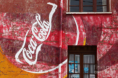 Faded Coca Cola Mural 1 Poster by James Brunker