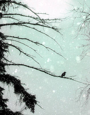Abstract Faded Winter Poster