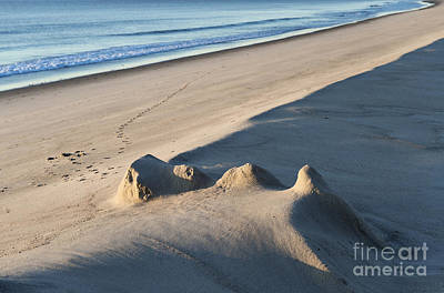 Fading Sand Castle Poster by John Greim