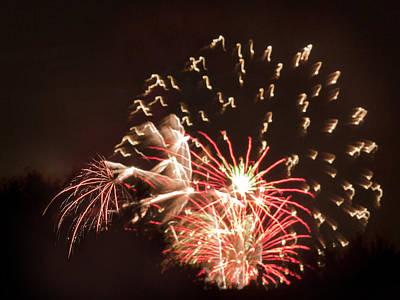 Faerie In The Fireworks Poster by Terri Harper