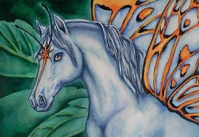 Faery Horse Star Fyre Poster by Beth Clark-McDonal