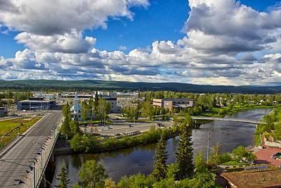 Fairbanks Alaska The Golden Heart City 2014 Poster by Michael Rogers