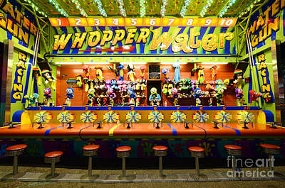 Fairground Fun Sideshow 2 Poster by Bob Christopher