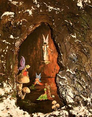 Fairies Abode Poster by Jean Walker