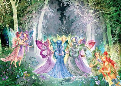 Fairies Song Poster by Zorina Baldescu