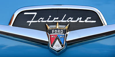 Fairlane Name Plate Poster by David Lee Thompson