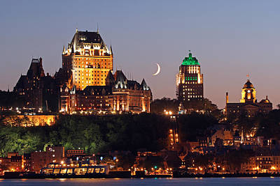 Fairmont Le Chateau Frontenac Poster by Juergen Roth