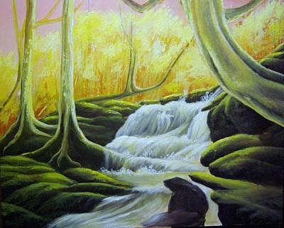 Fairy Falls In Scotland Poster
