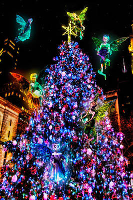 Fairy Holiday Tree Poster