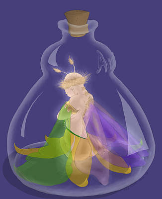 Fairy In A Bottle Poster by Kathi Day