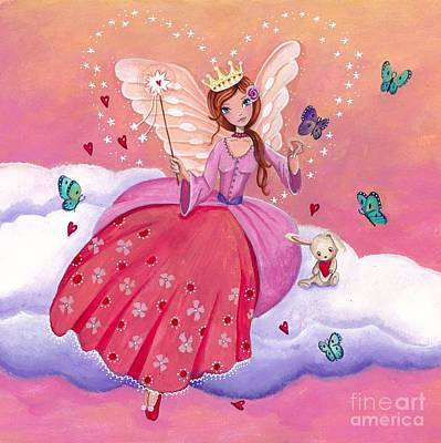 Fairy On A Cloud Poster by Caroline Bonne-Muller