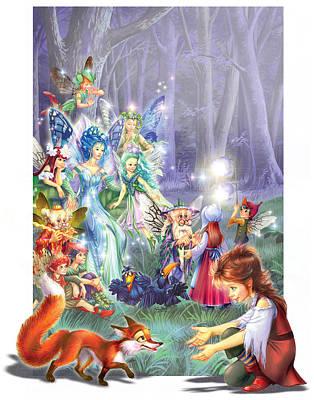 Fairy Princess Gathering Poster by Zorina Baldescu