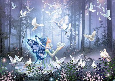 Fairy Queen Poster by Zorina Baldescu