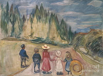 Fairy-tale Forest Poster by Edvard Munch