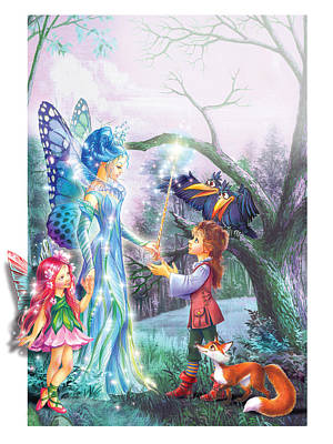 Fairy Wand Poster by Zorina Baldescu
