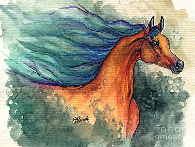 Fairytale Bay Arabian Horse 28 10 2013 Poster by Angel  Tarantella