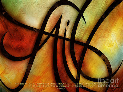 Faith Abstract - Verse Poster by Shevon Johnson