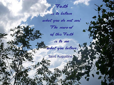 Faith Poster by Aimee L Maher Photography and Art Visit ALMGallerydotcom