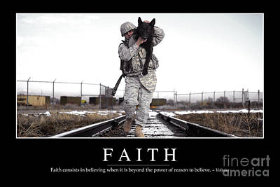 Faith Inspirational Quote Poster by Stocktrek Images