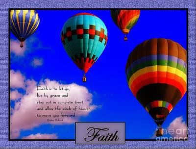 Faith Is To Let Go Poster