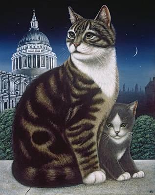 Faith, The St. Paul's Cat Poster by Frances Broomfield