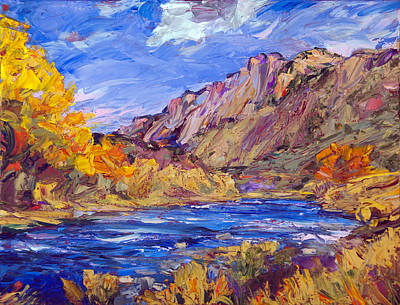 Fall Along The Rio Grande Poster by Steven Boone