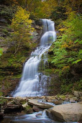 Fall At Cathedral Falls Poster
