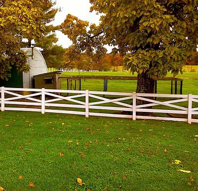 Fall At Eisenhower Farm Poster