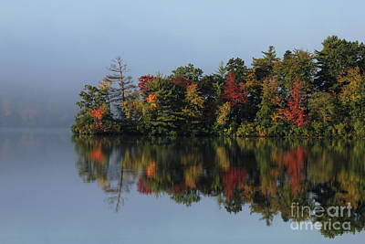 Fall At Heart Pond Poster by Kenny Glotfelty