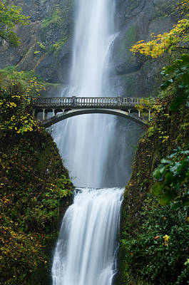 Fall At Multnomah Falls Poster