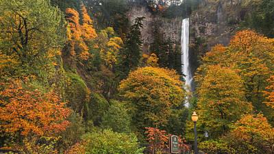 Fall At Multnomah Falls Poster