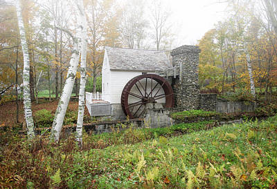 Fall At The Dorset Grist Mill Poster by Gordon Ripley