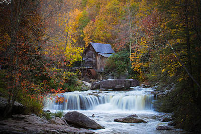 Mill At Babcock State Park Poster