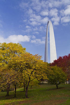 Fall At The St Louis Arch Poster by Garry McMichael