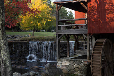 Fall At The Weston Mill Poster