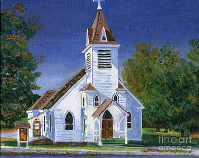Fall Church Poster by Lynne Reichhart