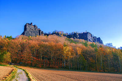 Fall Colors Around The Lilienstein Poster