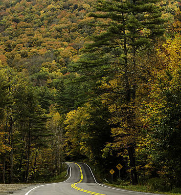 Fall Colors On Mohawk Trail Near Charlemont Poster
