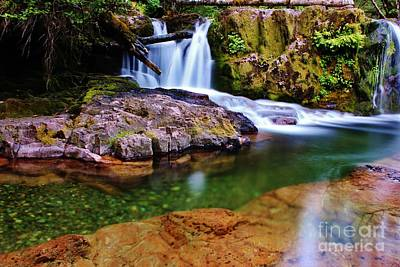 Fall Creek Oregon Poster by Michael Cross