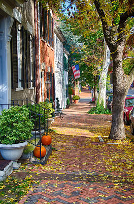 Fall Day In Old Town Alexandria Virginia Poster