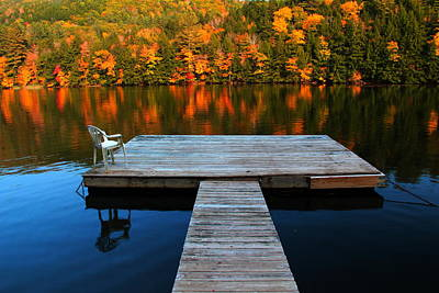 Fall Dock In Vt Poster
