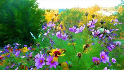 Fall Enters The Garden No 2 Poster