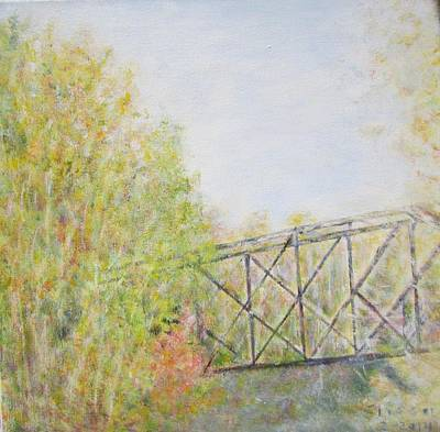 Fall Foliage And Bridge In Nh Poster