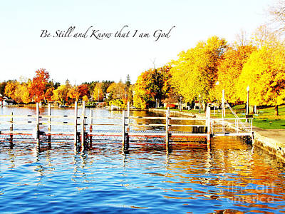 Fall In Skaneateles Ny Poster by Margie Amberge