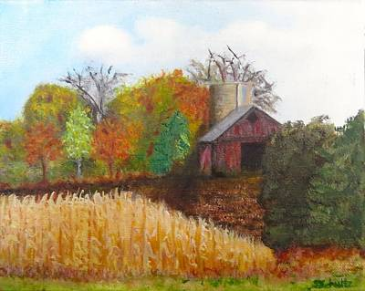 Poster featuring the painting Fall In Wisconsin by Sharon Schultz